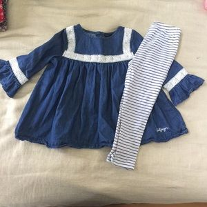Tommy Hilfiger Girls 4T Top and leggings outfit